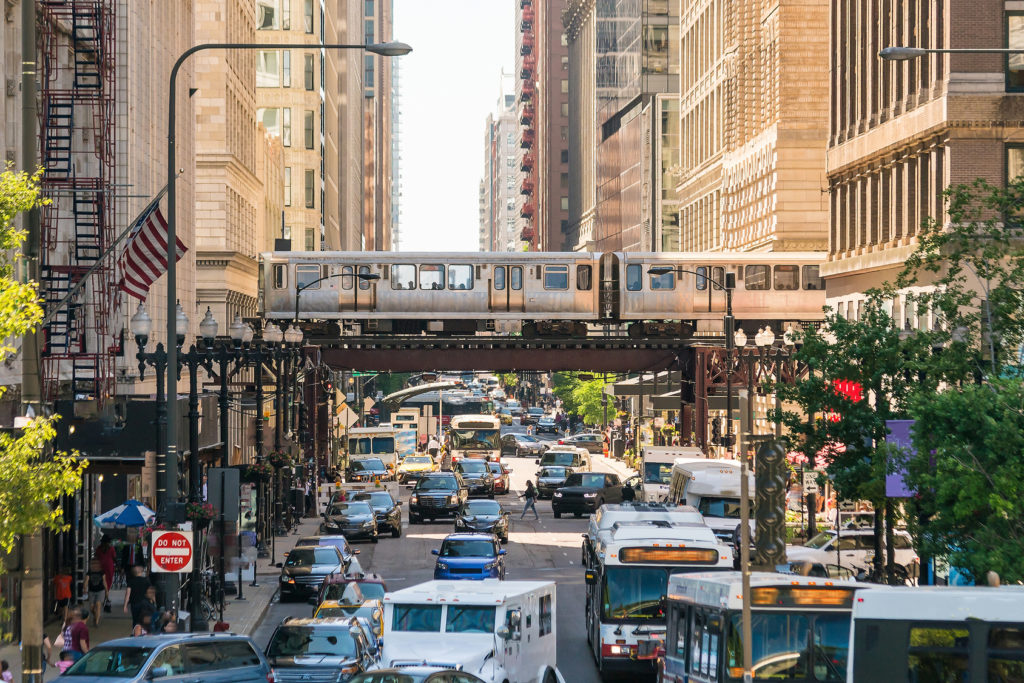 Traffic-Downtown-Chicago