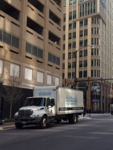 Chicago-Office-Movers-Truck-Downtown-Chicago