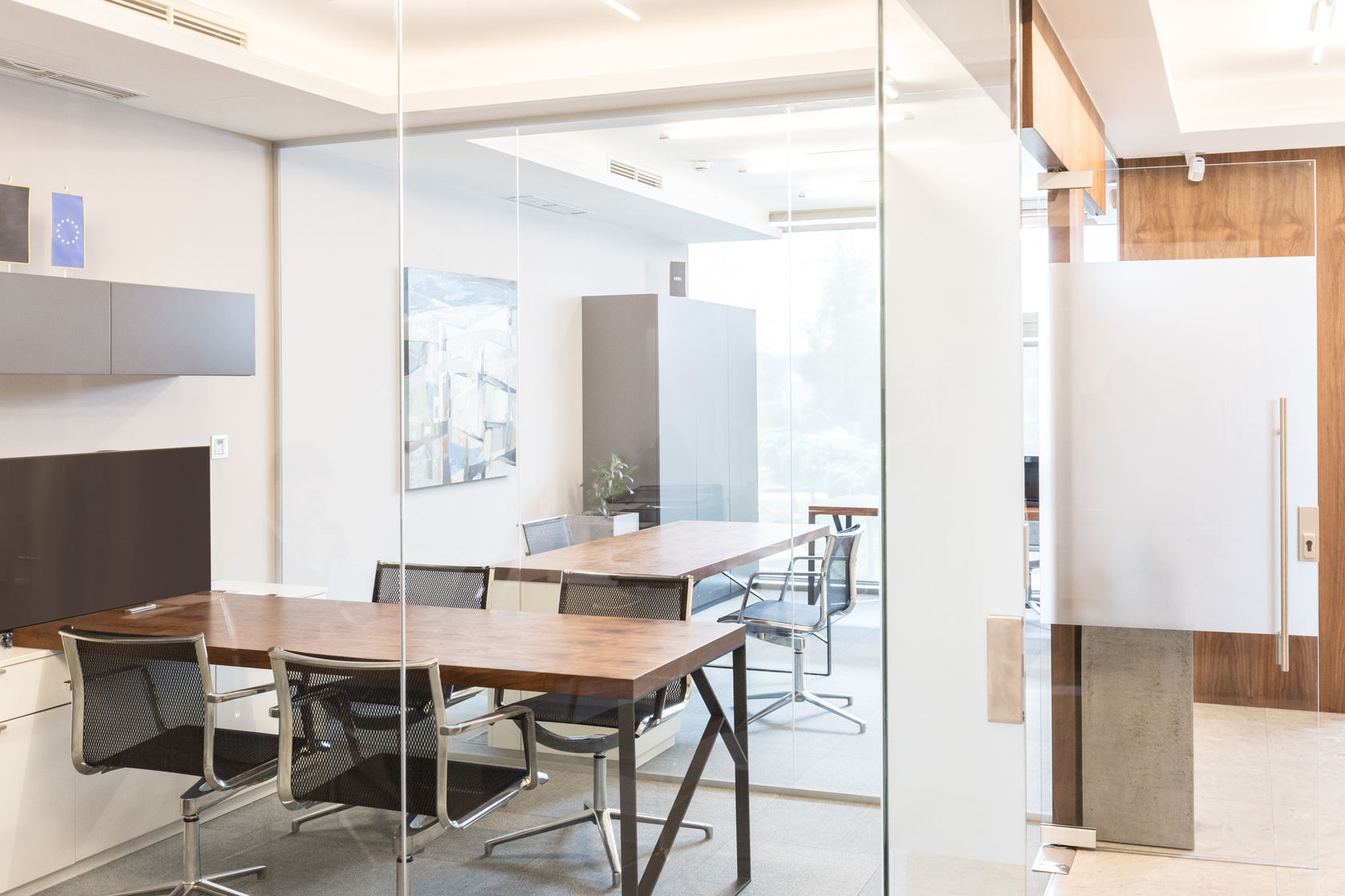 Modern corporate office interior.