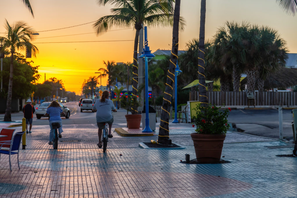People-Biking-Sunset-Fort-Myers-FL