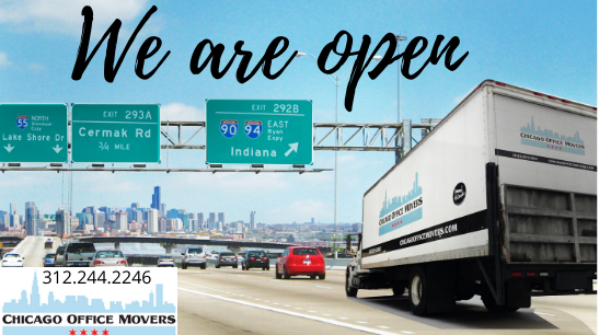 Chicago Office Movers Truck Highway