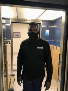 Chicago Office Mover Wearing Mask