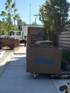 Moving Boxes Outside
