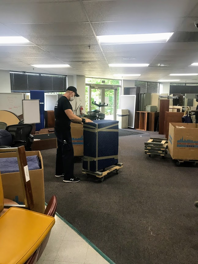 Unwrapping Furniture from Office Move